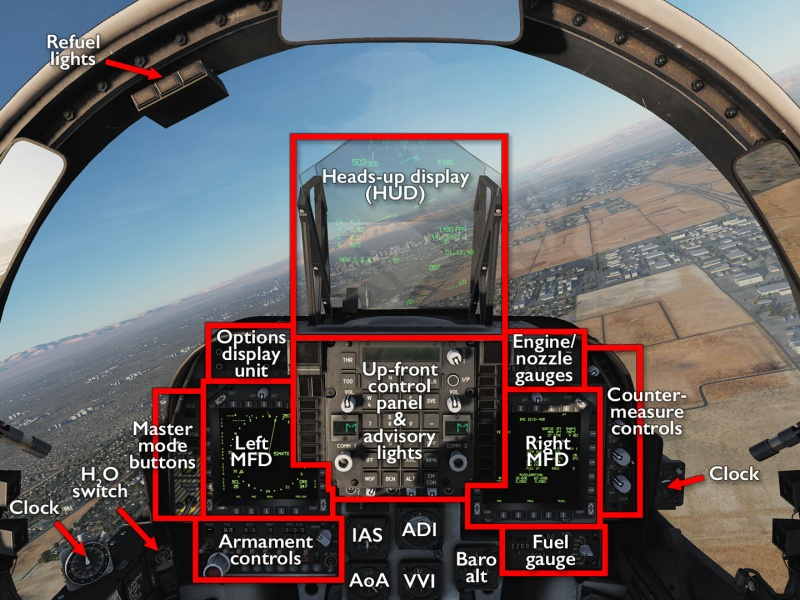 AV-8B NA Harrier II dashboard.