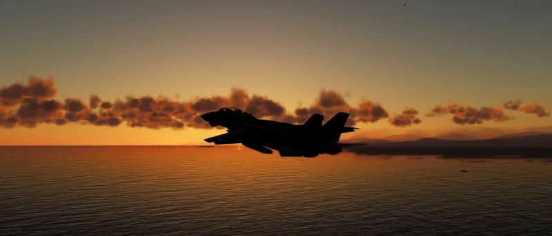 F-14B in sunset